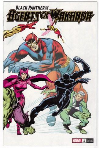 Black Panther and Agents of Wakanda #1 1:100 Buscema Hidden Gem Var 2019 VF/NM