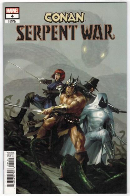 Conan Serpent War #4 1:50 Miguel Mercado Variant Marvel 2019 Moon Knight VF/NM