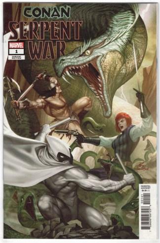Conan Serpent War #1 1:50 InHyuk Lee Variant Marvel 2019 Moon Knight VF/NM