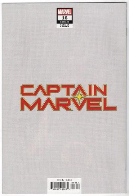 Captain Marvel #16 1:50 BossLogic Virgin Variant Marvel 2019 Thompson VF/NM