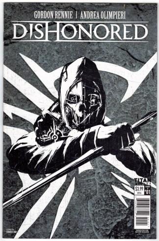Dishonored #1 Charles Bae Game Art Cover Titan 2016 VF-