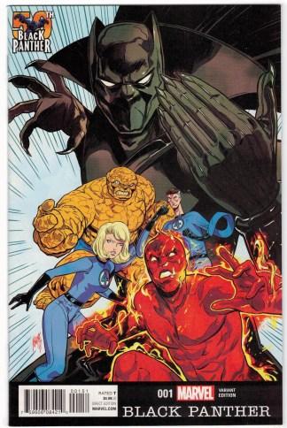Black Panther #1 1:25 Felipe Smith Variant Fantastic Four Marvel 2016 VF/NM