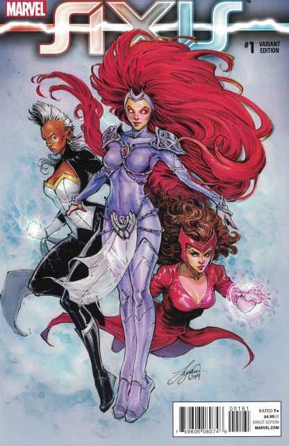 Avengers and X-Men Axis #1 1:50 Siya Oum Variant Medusa Storm