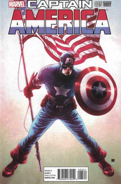 Captain America #25 1:50 Steve McNiven Variant Marvel NOW 2012