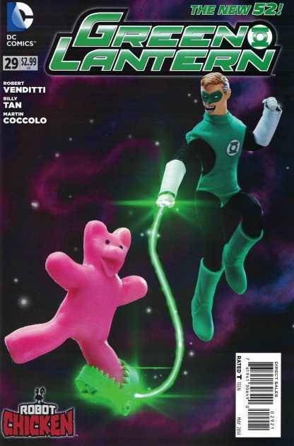 Green Lantern #29 1:25 Robot Chicken Variant DC New 52 2011