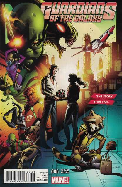 Guardians of the Galaxy #6 1:10 Story Thus Far Variant Marvel ANAD 2015