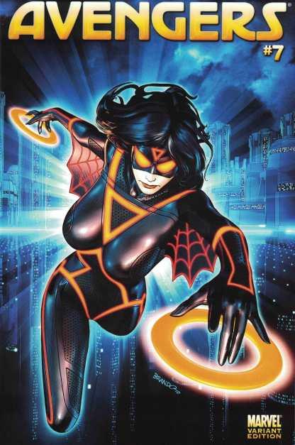 Avengers #7 1:15 Brandon Peterson Tron Variant Marvel 2010 Spider-Woman