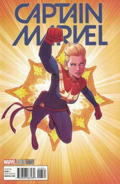 Captain Marvel #3 1:25 Jaime McKelvie Variant Marvel ANAD 2016