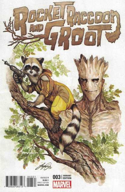 Rocket Raccoon and Groot #3 1:25 Siya Oum Variant Marvel ANAD 2016