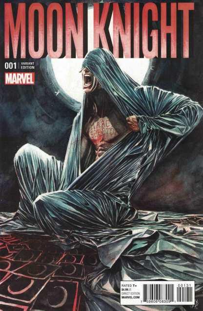 Moon Knight #1 1:25 Marco Rudy Variant Marvel ANAD 2016 Jeff Lemire