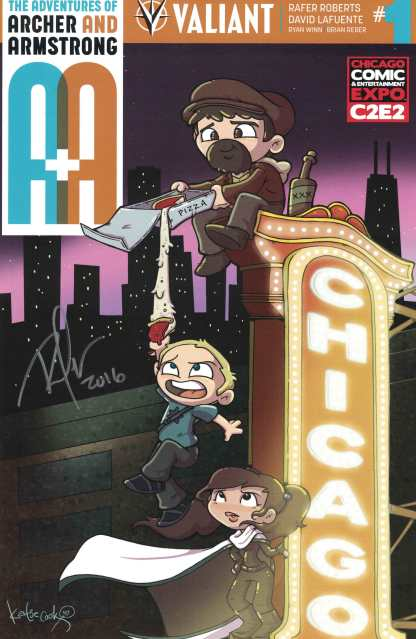 A&A Adventures of Archer & Armstrong #1 C2E2 Cook Variant Signed by Rafer Robers