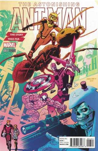 Astonishing Ant-Man #7 1:10 Samnee Story Thus Far Variant Marvel 2015 ANAD