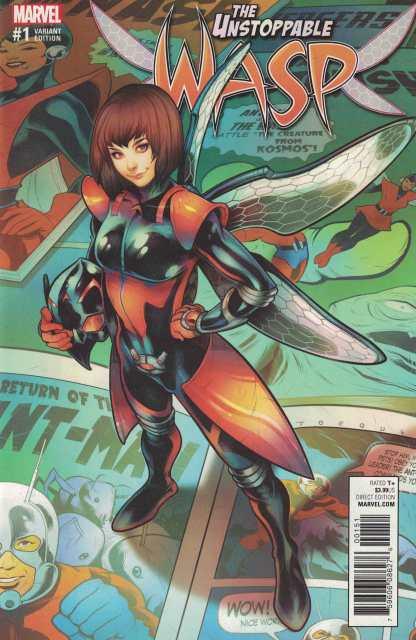 Unstoppable Wasp #1 1:25 Elizabeth Torque Variant NOW Marvel 2017