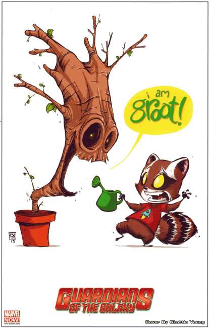 Guardians of the Galaxy Skottie Young Rocket and Groot Lithograph Print