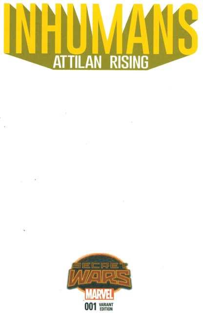 Inhumans Attilan Rising #1 Blank Sketch Variant 2015 SWA Secret Wars