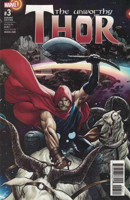 Unworthy Thor #3 1:25 Ryan Sook Variant NOW Marvel 2016