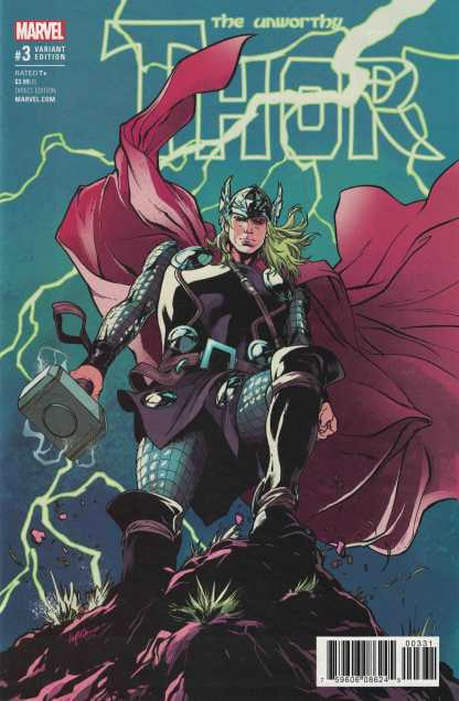 Unworthy Thor #3 1:25 Emanuella Lupacchino Variant NOW Marvel 2016