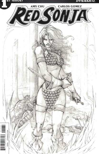 Red Sonja #1 1:20 Guiseppe Camuncoli B&W Sketch Variant Cover H 2017 Vol 7