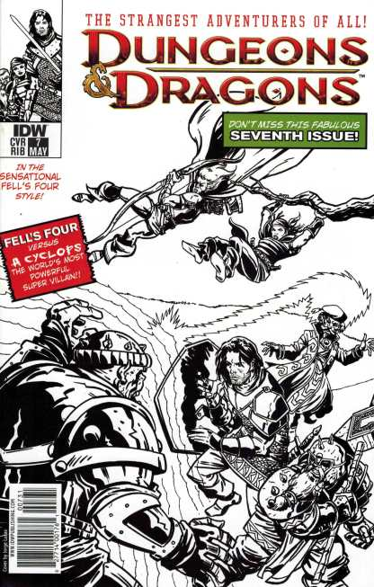 Dungeons and Dragons #7 1:10 Jorge Lucas X-Men Homage Sketch Variant IDW