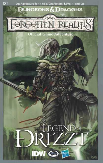 Dungeons and Dragons Legend of Drizzt #1 Module Variant RI IDW
