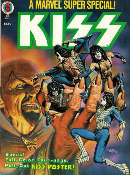 Marvel Super Special KISS #5 Poster Still Intact FN Nice Copy!