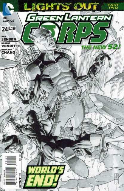 Green Lantern Corps #24 1:25 J G Jones Variant New 52 Lights Out