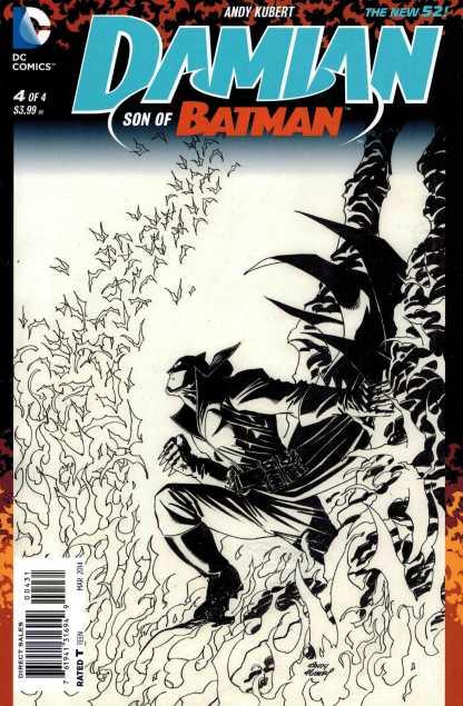 Damian Son of Batman #4 1:100 Andy Kubert Black and White Variant
