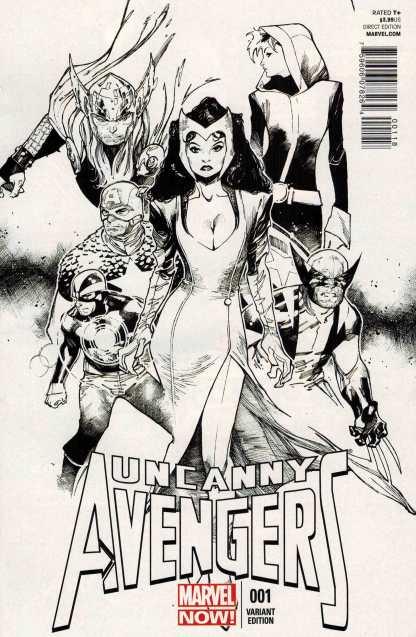 Uncanny Avengers #1 1:200 Coipel Black and White Variant