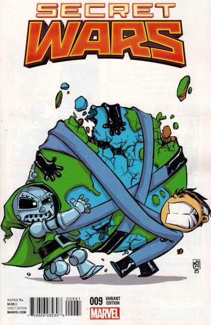 Secret Wars #9 Skottie Young Marvel Babies Variant 2015 Fantastic Four Dr Doom