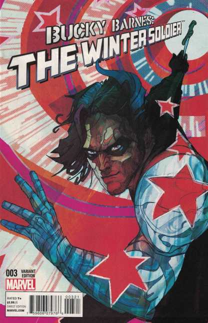 Bucky Barnes Winter Soldier #3 1:25 Christian Ward Variant Marvel 2014