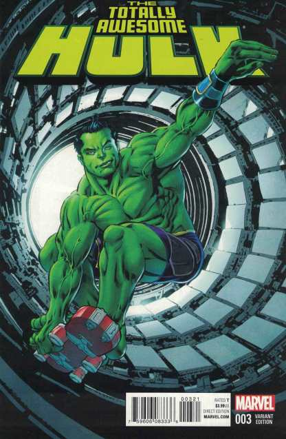Totally Awesome Hulk #3 1:25 Mike Perkins Variant ANAD Marvel 2015