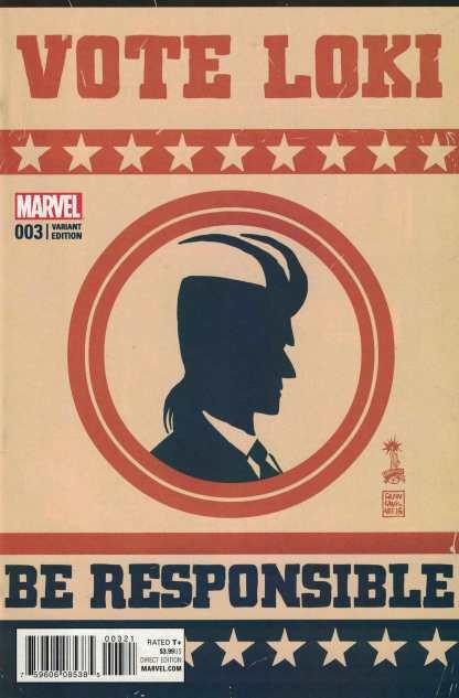 Vote Loki #3 1:25 Francesco Francavilla Variant Marvel 2016