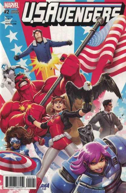 US Avengers #2 1:25 David Nakayama Variant NOW Marvel 2017 Squirrel Girl