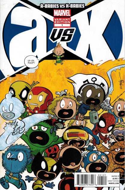 A-Babies vs X-Babies ELIOPOULOS Variant Marvel Avengers Vs X-Men