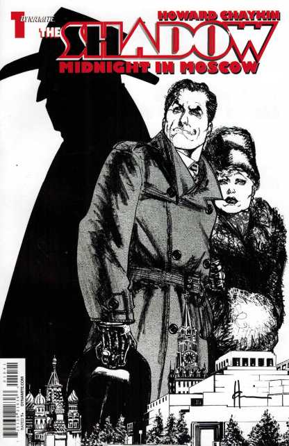 Shadow Midnight in Moscow #1 Howard Chaykin Sketch Black and White Variant