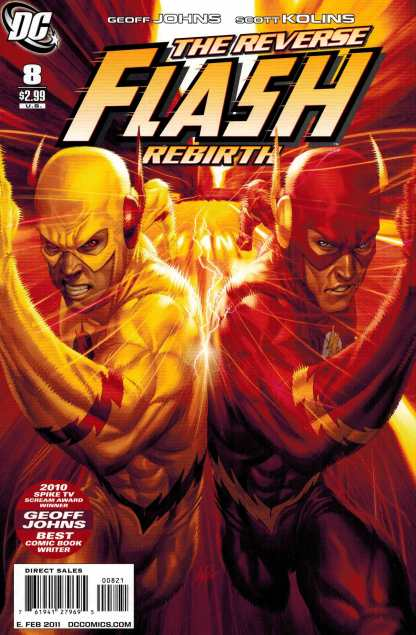 Flash #8 1:10 Stanley Artgerm Lau Reverse Flash Zoom Variant DC 2010