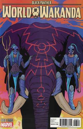 Black Panther World of Wakanda #3 1:50 Natacha Bustos Variant NOW Marvel 2016