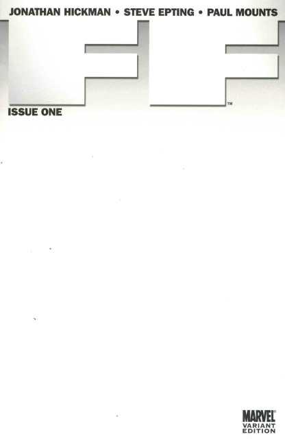 FF #1 Blank Sketch Variant New 2011 Hickman