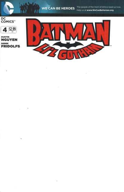 Batman Li'l Gotham #4 Blank Variant Sketch We Can Be Heroes