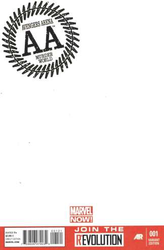 Avengers Arena #1 Blank Sketch Variant Cover New Marvel NOW!
