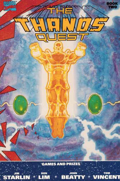 Thanos Quest Book Two 2 Avengers Starlin Ron Lim First Print 1990