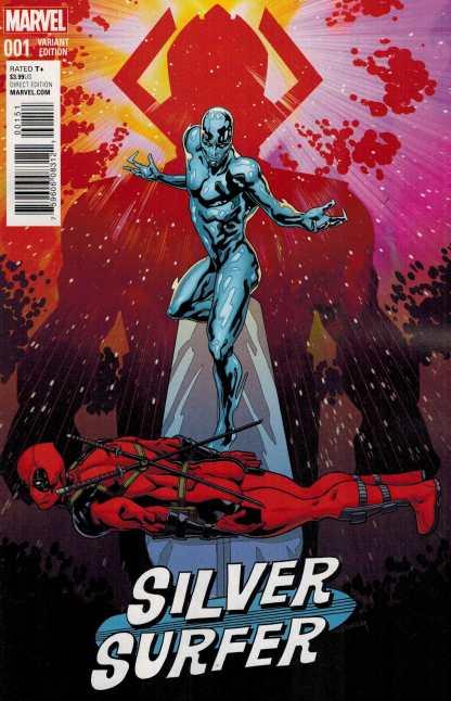 Silver Surfer #1 1:10 Sliney Deadpool Variant Marvel ANAD 2016 Galactus