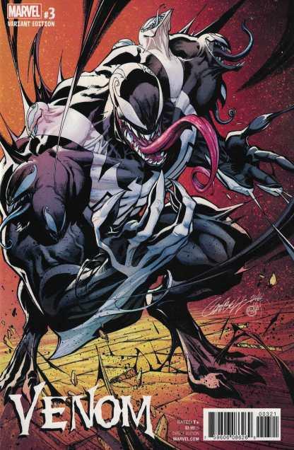 Venom #3 1:100 J Scott Campbell Variant NOW Marvel 2017 RARE HTF