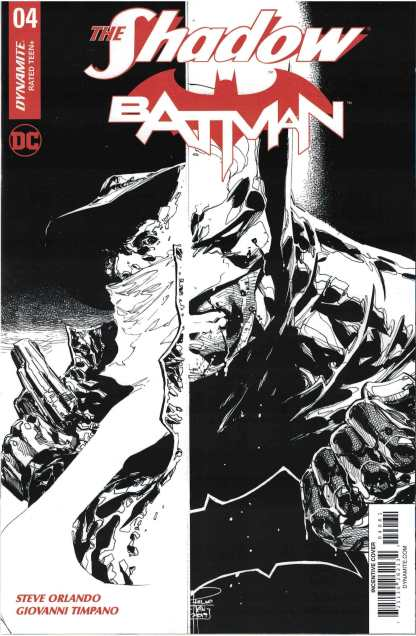The Shadow Batman #4 1:10 Philip Tan B&W Variant Dynamite 2017