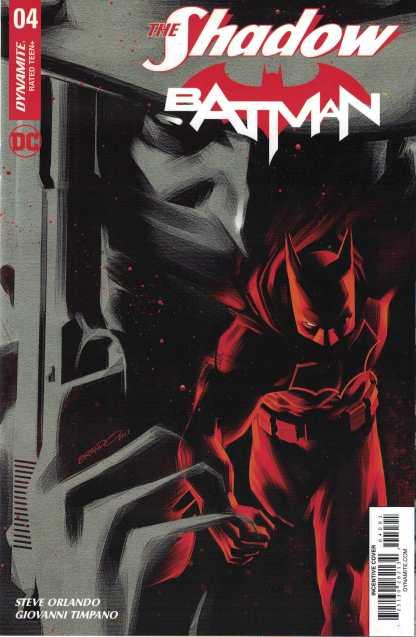 The Shadow Batman #4 1:40 Brandon Peterson B&W Variant Dynamite 2017
