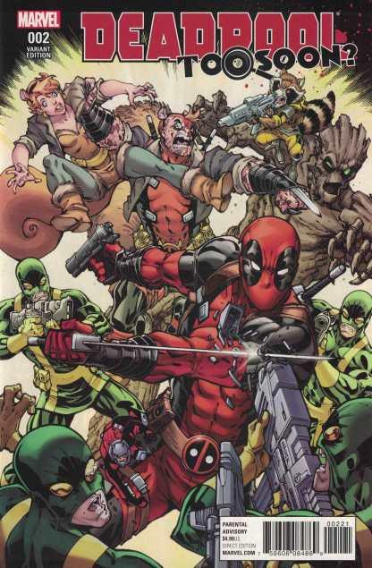 Deadpool Too Soon #2 1:25 Todd Nauck Variant NOW Marvel 2016