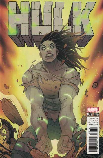Hulk #2 1:25 Elizabeth Torque Variant NOW Marvel 2017 She Hulk Gray
