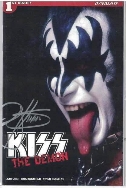 Kiss the Demon #1 1:50 Variant Cover H Signed by Gene Simmons Dynamite 2017 HTF