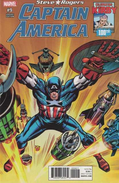 Captain America Steve Rogers #9 1:10 Jack Kirby 100 Variant NOW Marvel 2016