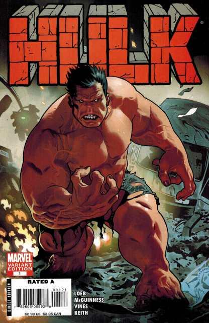 HULK #1 2008 Daniel Acuna Red Hulk Variant
